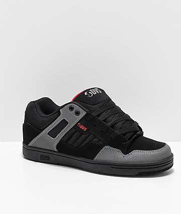 DVS Enduro 125 Black, Charcoal & Red Skate Shoes