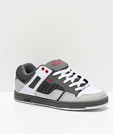 DVS Enduro 125 Charcoal, White & Red Skate Shoes