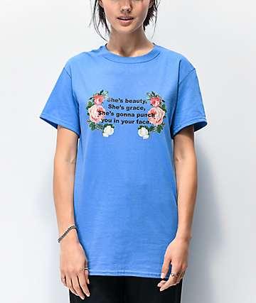 Daisy Street Shes Beauty Shes Grace camiseta azul