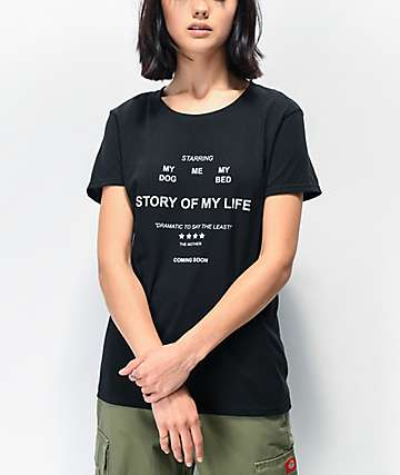 Daisy Street Story Of My Life Black T-Shirt