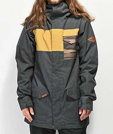 Dakine Elsman 10K chaqueta de snowboard negra y amarilla