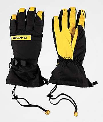 Dakine Nova guantes de snowboard negros y marrones
