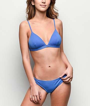 Damsel Forget Me Not Blue Pique Cheeky Bikini Bottom