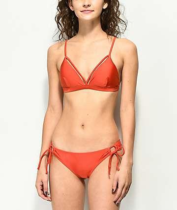 Damsel Shimmer Burnt Orange Cheeky Bikini Bottom