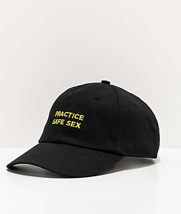 Danny Duncan Practice Safe Sex Black & Yellow Strapback Hat