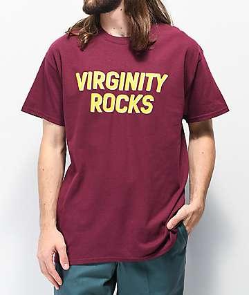 Danny Duncan Virginity Rocks Burgundy & Yellow T-Shirt