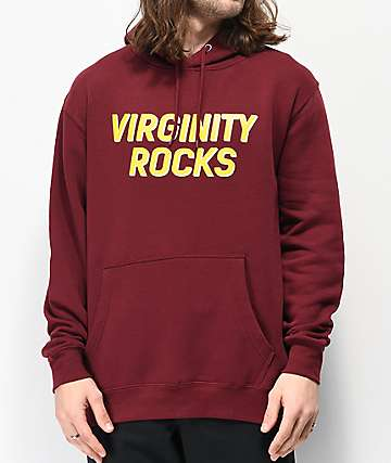 Danny Duncan Virginity Rocks Burgundy Hoodie