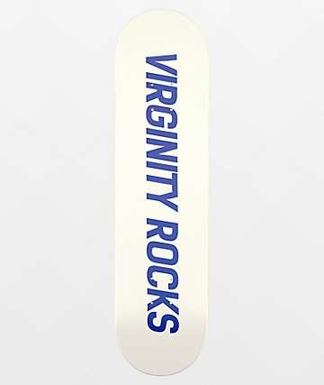 """Danny Duncan Virginity Rocks White & Blue 8.0"""" Skateboard Deck"""