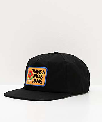 Danson Have A Nice Day Black Snapback Hat