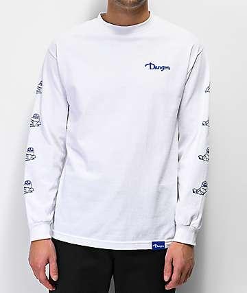 Danson Otter Love camiseta blanca de manga larga