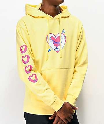 Danson Significant Otter sudadera con capucha amarilla