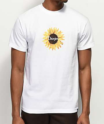 Danson Sunflower White T-Shirt