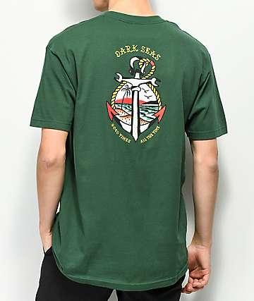 Dark Seas Avalon Forest Green T-Shirt
