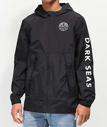 Dark Seas Fairlane Black Windbreaker Jacket