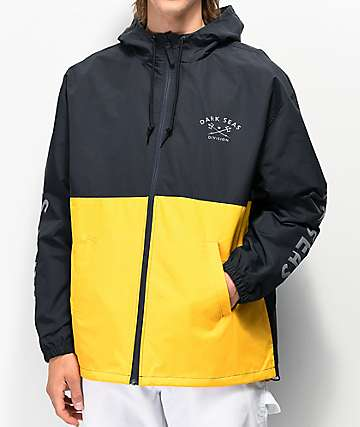 Dark Seas Foul Weather Navy & Yellow Jacket