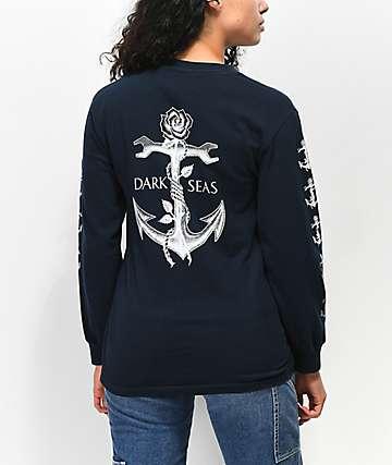 Dark Seas Lost Love Blue Long Sleeve T-Shirt
