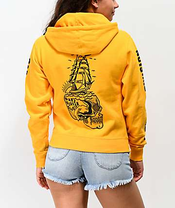 Dark Seas Mind Sails Gold Hoodie
