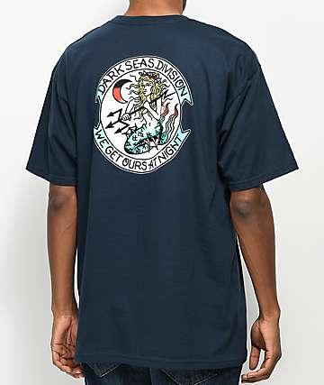 Dark Seas Night Fall Navy T-Shirt