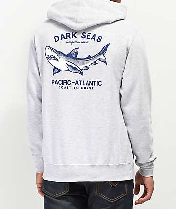 Dark Seas Pacific-Atlantic Grey Hoodie