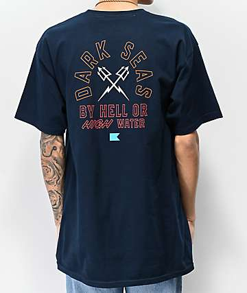 Dark Seas Quartermaster Navy T-Shirt