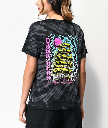 Dark Seas Visual Voyage Black Tie Dye T-Shirt