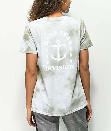 Dark Seas Water Drop Tiger Lily Tie Dye T-Shirt