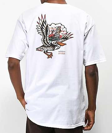 Dark Seas x Grundens Pelican White T-Shirt