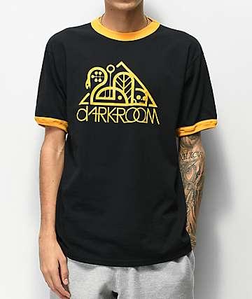 Darkroom Original Logo Black & Yellow Ringer T-Shirt