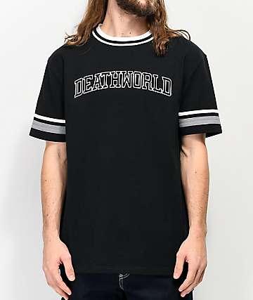 Deathworld Athletics Black & Grey Knit T-Shirt