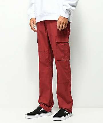 Deathworld Burgundy Cargo Pants