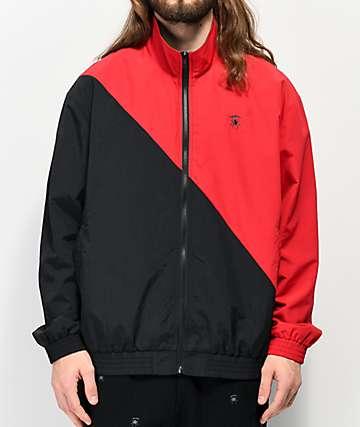 Deathworld Split Red & Black Windbreaker Jacket