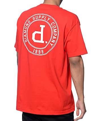 Diamond Supply Co College Seal camiseta roja