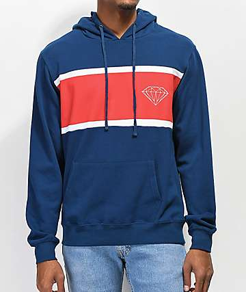 Diamond Supply Co. Brilliant Paneled Navy Hoodie