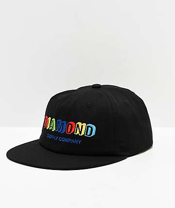 Diamond Supply Co. Building Blocks Black Strapback Hat
