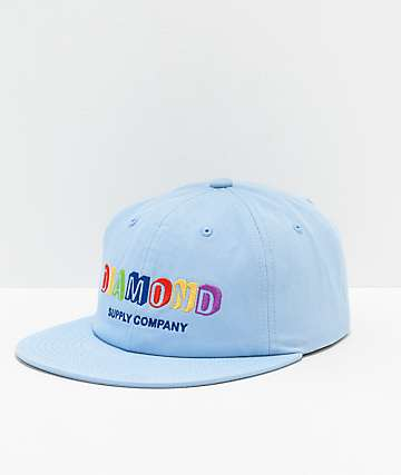 Diamond Supply Co. Building Blocks Blue Strapback Hat