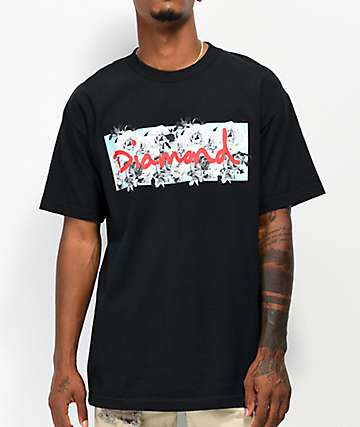 Diamond Supply Co. Dead Roses Box Logo Black T-Shirt