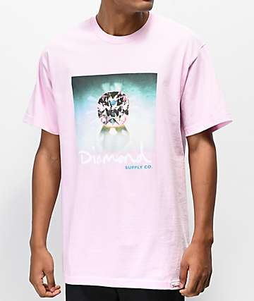 Diamond Supply Co. Gleam Sign Pink T-Shirt