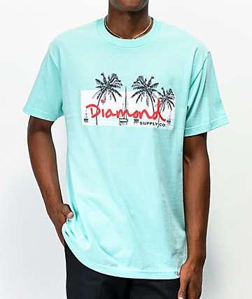 Diamond Supply Co. Marina Box Logo camiseta menta