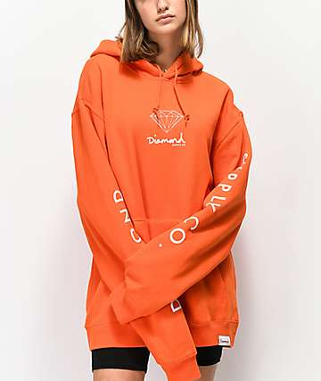 Diamond Supply Co. Mini OG Sign Orange Hoodie