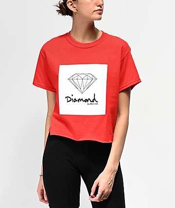 Diamond Supply Co. Mini OG Sign camiseta corta roja