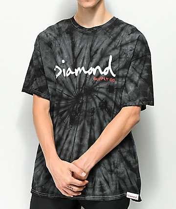 Diamond Supply Co. OG Script Black Tie Dye T-Shirt