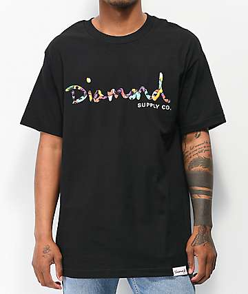 Diamond Supply Co. OG Script Fasten Black T-Shirt