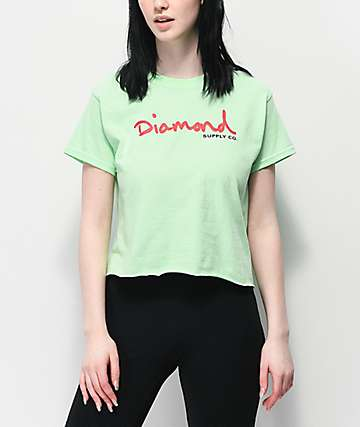 Diamond Supply Co. OG Script camiseta corta verde menta