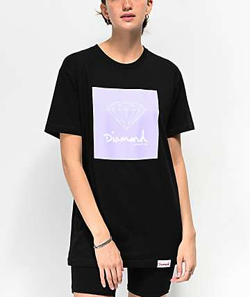 Diamond Supply Co. OG Sign Black & Lavender T-Shirt