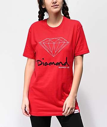 Diamond Supply Co. OG Sign camiseta roja