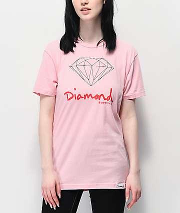 Diamond Supply Co. OG Sign camiseta rosa