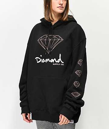 Diamond Supply Co. OG Sign sudadera con capucha negra
