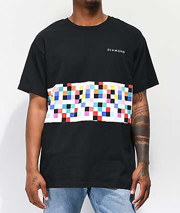 Diamond Supply Co. Pixel Panel Black T-Shirt