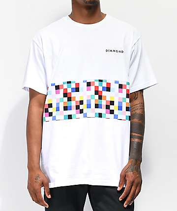 Diamond Supply Co. Pixel Panel White T-Shirt