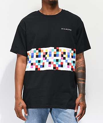 Diamond Supply Co. Pixel Panel camiseta negra